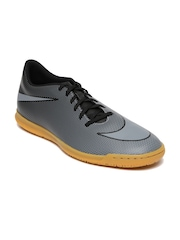 Nike Men Black & Grey Bravata II IC Printed Football Shoes