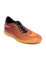 Nike Men Orange Bravata II IC Printed Football Shoes
