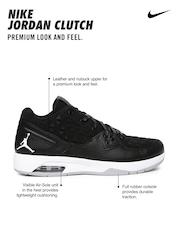 Nike Men Black Jordan Clutch Leather Basketball Shoes