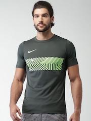 Nike Charcoal Grey AS NK DRY ACDMY GX T-shirt