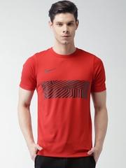 Nike Red AS M NK DRY ACDMY GX T-shirt
