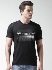 Nike Black AS FOOTBALL PHOTO Printed T-shirt