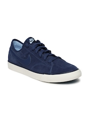 Nike Men Blue Primo Court Suede Sneakers