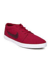 Nike Men Red Voleio Canvas Sneakers