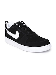 Nike Men Black Court Borough Suede Sneakers