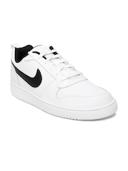 Nike Men White Court Borough Sneakers