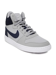 Nike Men Grey Court Borough High-Top Sneakers