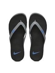 Nike Men Grey & Black Matira Flip-Flops
