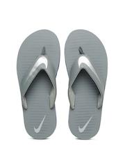 Nike Men Grey Printed Chroma Flip-Flops