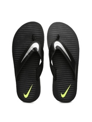 Nike Men Black Printed Chroma Flip-Flops