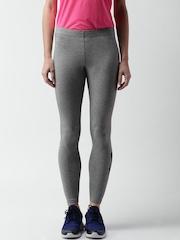 Nike Grey Melange AS W NSW Logo Printed Tights
