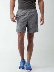 "Nike Grey Printed Polyester AS M NK FLX SHORT 7"" Running Shorts"