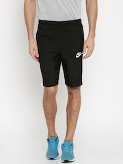 Nike Men Black Solid Sports Shorts