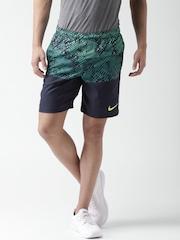 Nike Navy Printed Shorts