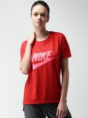 Nike Red AS NSW SIGNAL LOGO T-shirt
