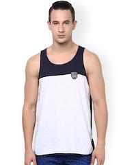 Atorse White & Navy Innerwear Vest S16SND032