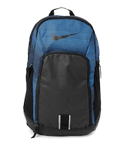 Nike Unisex Black & Blue Printed Alph Adpt Backpack
