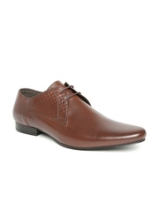 Franco Leone Men Coffee Brown Leather Formal Shoes