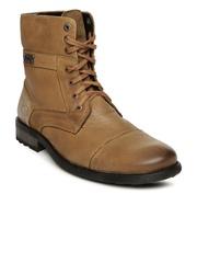 Alberto Torresi Men Brown Leather Boots