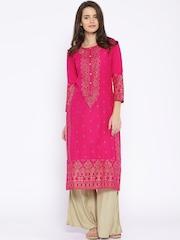 Vishudh Pink Printed Kurta