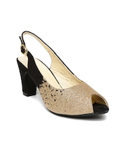 Paprika by Lifestyle Women Black & Gold-Toned Heels