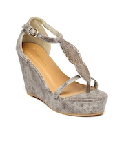 Paprika by Lifestyle Women Grey Printed Wedges