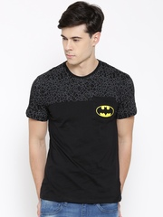 Batman Men Black Printed Round Neck T-shirt