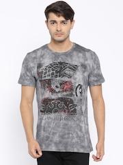 Game Of Thrones Men Grey Printed T-Shirt