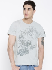 LINKIN PARK Men Grey Printed Round Neck T-shirt