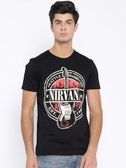 Nirvana Men Black Printed T-Shirt