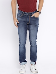 Locomotive Blue Washed Super Slim Fit Jeans