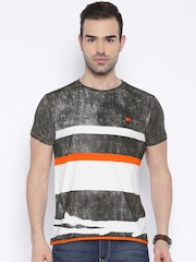 MTV Charcoal Grey & White Striped T-shirt