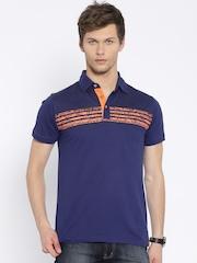 MTV Blue Printed Polo T-shirt