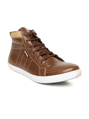 Provogue Men Tan Brown High-Top Sneakers