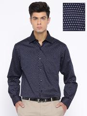 Arrow Navy Printed Formal Shirt