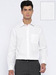 Arrow White Printed Slim Fit Formal Shirt
