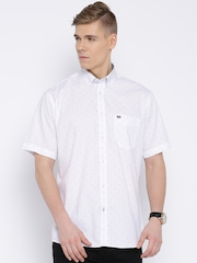 Arrow Sport White Printed Casual Shirt