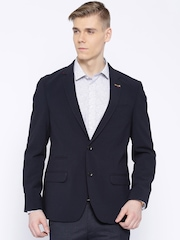 Arrow Navy Single-Breasted Body Tailored Fit Blazer