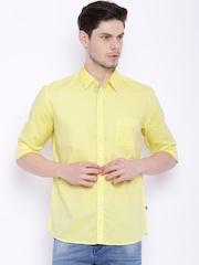 Parx Men Yellow Slim Fit Casual Shirt