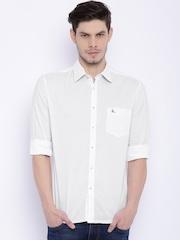 Parx Men White Slim Fit Casual Shirt