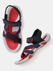 Roadster Men Navy & Black Sports Sandals