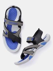 Roadster Men Grey & Black Sports Sandals