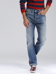Levi's Blue 501 CT Tapered Fit Jeans