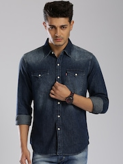 Levi's Blue Denim Slim Fit Casual Shirt