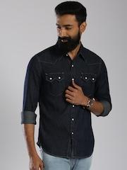 Levi's Navy Slim Fit Denim Casual Shirt