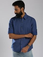 Levi's Blue Printed Slim Fit Casual Shirt