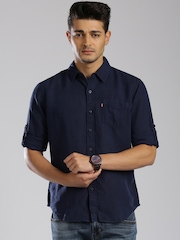 Levi's Navy Slim Fit Casual Shirt