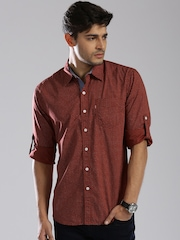 Levi's Brown Printed Slim Fit Casual Shirt