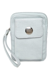 Baggit Women Mint Green Textured Mobile Pouch