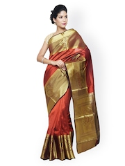 Sudarshan Silks Rust Red Traditional Saree